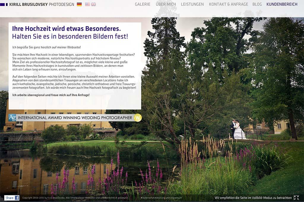 Hochzeitsfotograf Hamburg, Düsseldorf und weltweit Flash Homepage