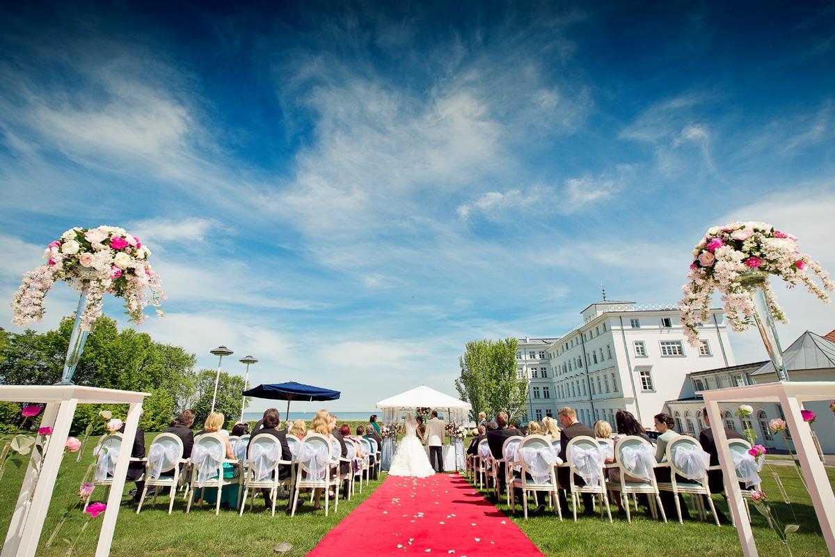 Hochzeitsfotos standesamtliche Trauung in Heiligendamm
