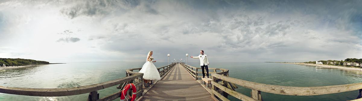 Hochzeitsfotos in Heiligendamm, Panorama