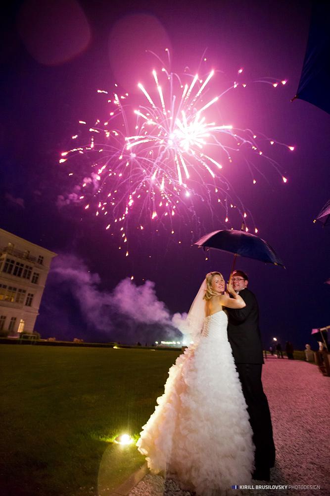 Hochzeitsfotos in Heiligendamm, Feuerwerk
