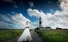 Hochzeitsportrait mit Lichtturm auf Sylt