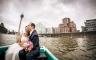 Bootsfahrt in Düsseldorf Hafen, Hochzeitsreportage