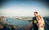 Hochzeitsfotos auf dem Dach von Empire Riverside Hotel