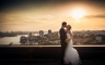 Hochzeitsfotos über den Dächern von Hamburg