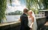 Hochzeitsfotos in der Nähe von Krugkoppelbrücke, Hamburg