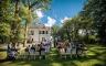Hochzeitszeremonie vor der Villa im Heine Park, Hochzeitsfotograf Hamburg