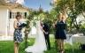 Hochzeitszeremonie vor der Villa im Heine Park, Hamburg